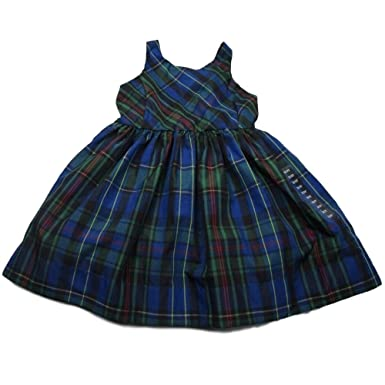 877f3e500 Amazon.com  Polo Ralph Lauren Baby Girls Plaid Holiday Dress (3 3T ...