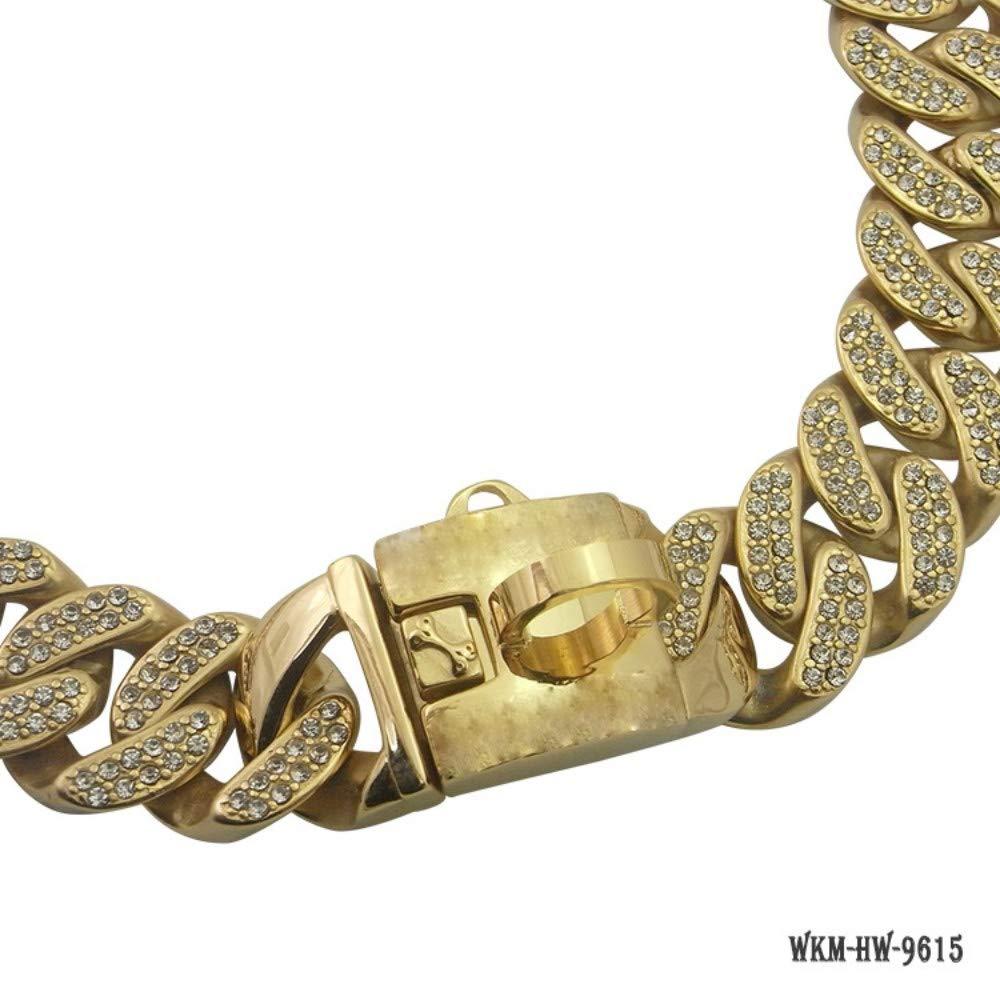 Gulunmun Gulunmun Gulunmun Collari A Strozzo per Cani Collare in Metallo A Forma di Cane Piccolo E Medio Grande con Diamanti in oro, 12 Pollici, 12 Pollici 89c143