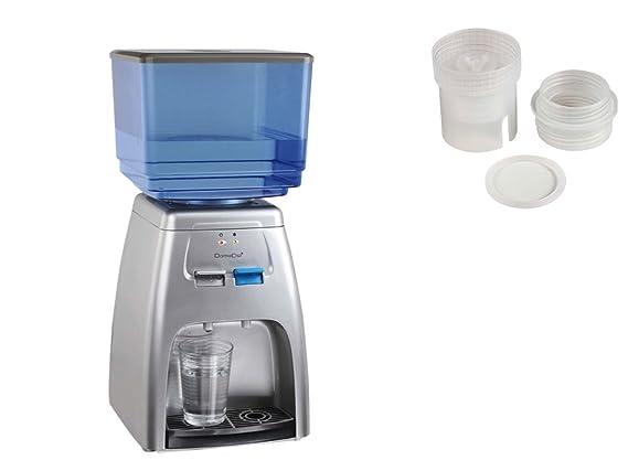 Dispensador de agua con refrigeración, 7 litros, dispensador de bebidas, depósito extraíble, 2 adaptadores: Amazon.es: Hogar