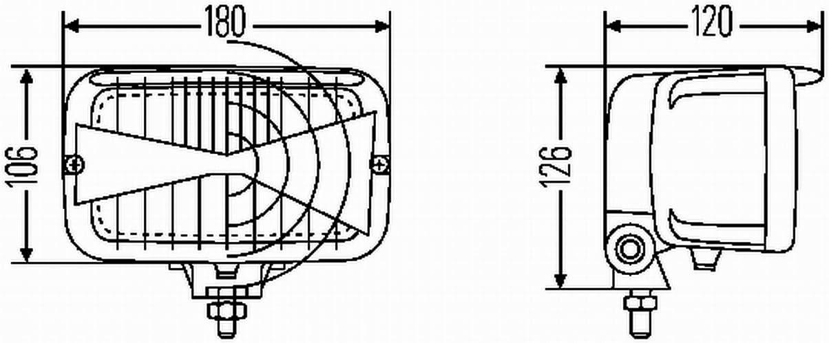 Izquierda o Derecha Sin luz din/ámica de curva HELLA 1AB 007 145-001 Hal/ógena Projecteur principal