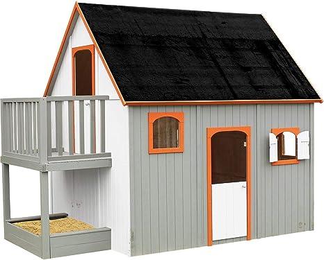 Soulet - Caseta de madera alta sobre piloti para niños – Duplex ...