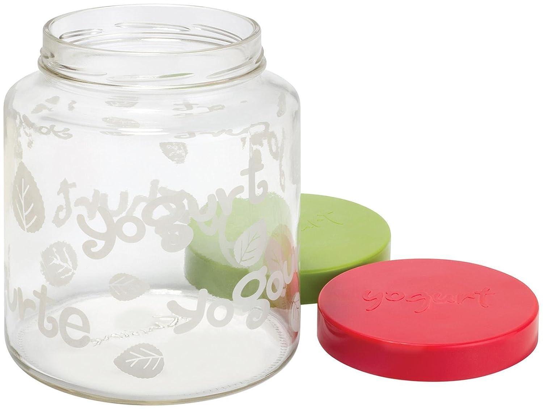 Euro Cuisine GY85 Glass Jar with Lid for YM260, YM360 and YM460 Yogurt Maker, 2 quarts, Clear Euro Cuisine Inc