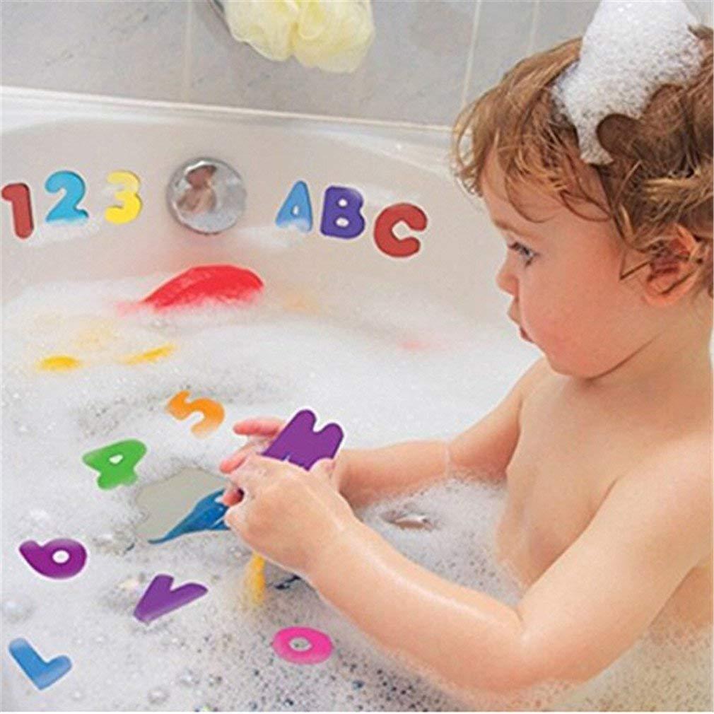 Fliyeong Premium 36PCS Zahlen und Buchstaben Puzzle Badespielzeug
