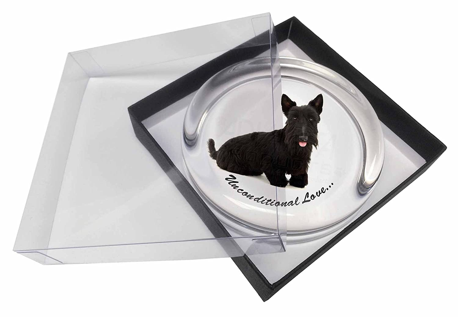 Advanta Paperweights AD-ST2uPWScottish Terrier Dog-with Love Glass Paperweight in Gift Box
