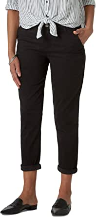 Riders by Lee Indigo Womens Slim Cropped Chino with Comfort Waistband Casual Pants