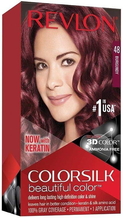 Revlon ColorSilk Tinte de Cabello Permanente Tono #48 Borgoña
