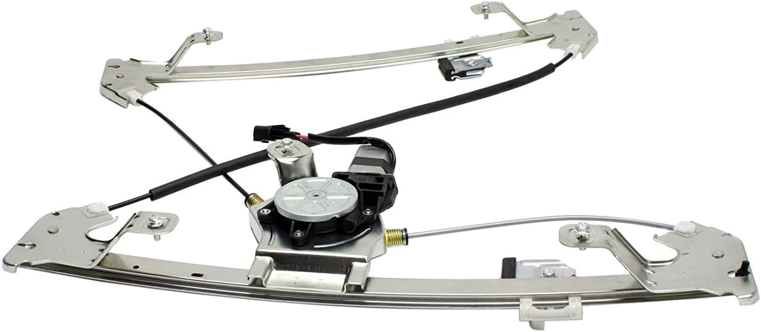 Rear Window Regulator Compatible with FORD F-150 2004-2008 LH Power with Motor SuperCrew Cab New Body Style