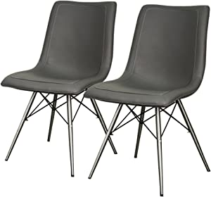 New Pacific Direct Blaine Chair,Set of 2 Furniture, Stormy Gray