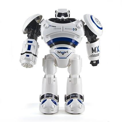 Amazon Com Tech Rc Jjrc R1 Defender Remote Control Rc Robot Toys