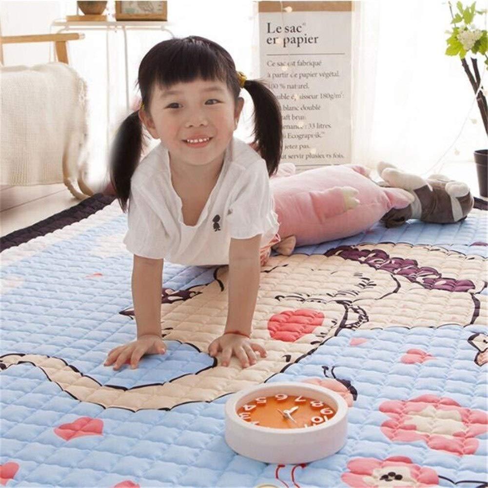 Babys Babyspielmatte Kinder Mat Kinder Cotton Krabbeln Pad Anti-Rutsch-waschbarer Teppich Entwicklung Teppich Weichbodenkleinkind-Spieldecke Spielzeug (Color : 5) 8