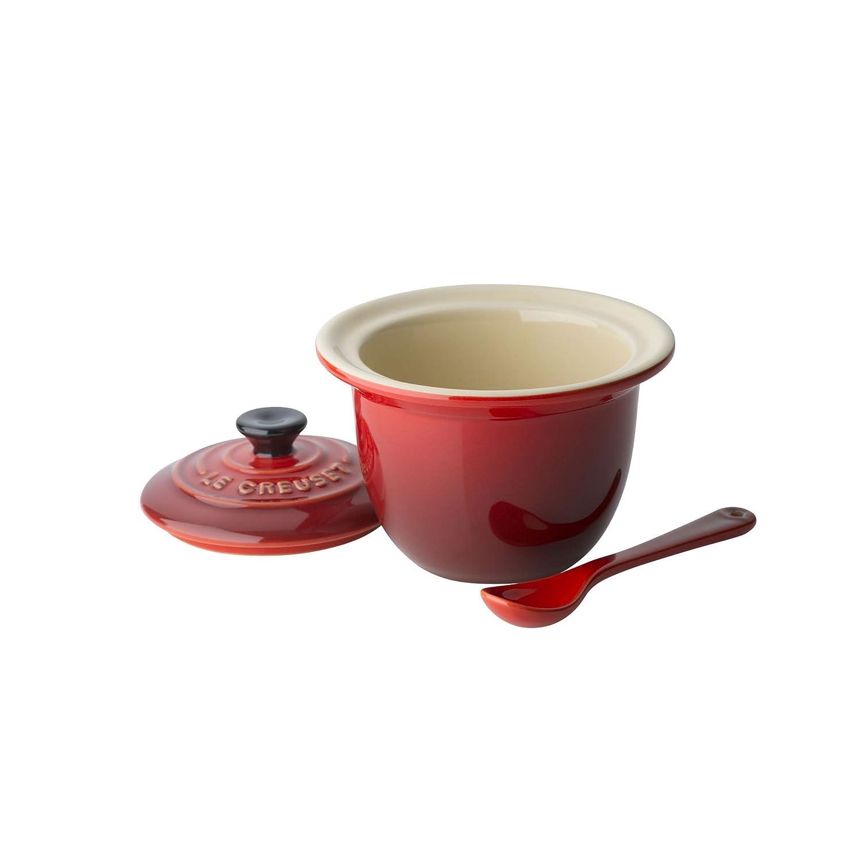 Le Creuset Stoneware Indian Condiment Pot, 0.2 L - Cerise 9103740006