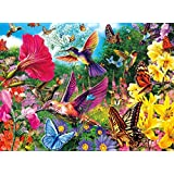 DIY 5D Diamond Painting by Number Kit, Full Drill Hummingbird Garden Embroidery Diamond Painting Kits Cross Stitch Wall Decor