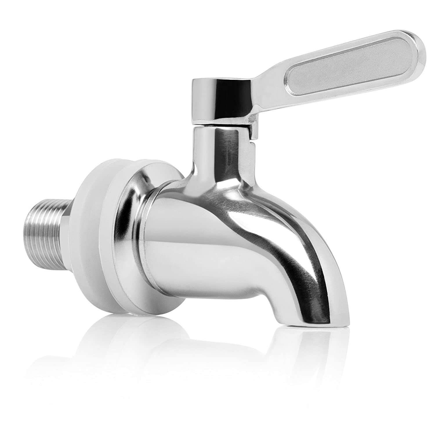Brew Tapper Solid Stainless Steel Beverage Dispenser Replacement Spigot (Polished Finish)