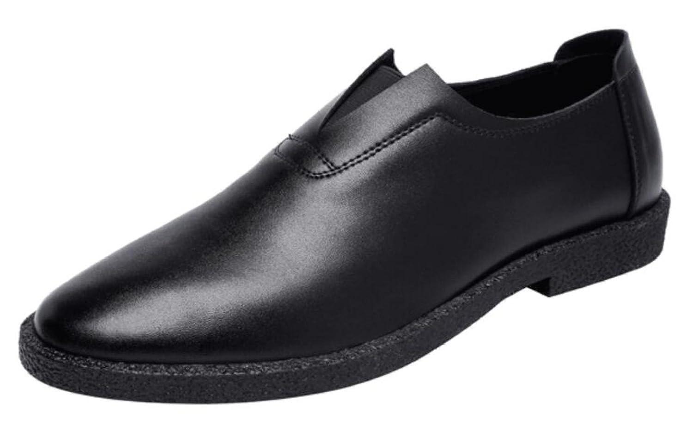 KMJBSMänner Ist Casual Schuhen Sommer Aufgewölbte Männer Sandalen Leder Haut Kühl Lederschuhe BusinessRunde Kopf Arbeiten black
