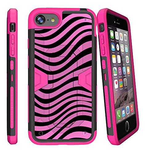 (MINITURTLE Case Compatible w/ Apple iPhone 7 Plus | iPhone 8 Plus Pink Case (5.5