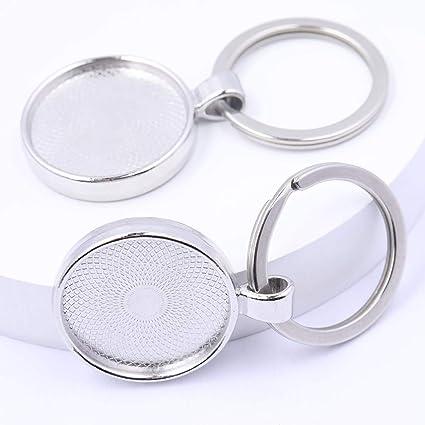 10 pins cabochon holder round 16 mm silverbronze