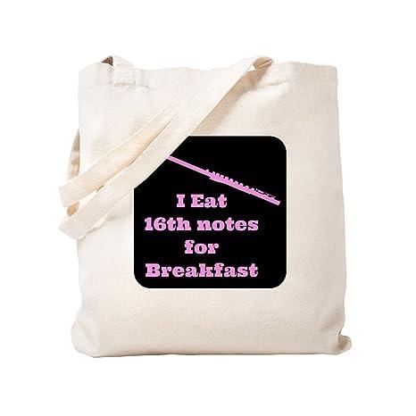CafePress Flauta I Eat 16 notas para bolsa de desayuno, lona ...
