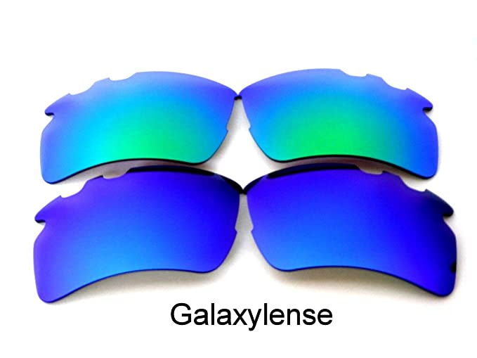 c2398d0d6c Amazon.com  Galaxy Replacement Lens For Oakley Flak 2.0 XL Vented Sunglasses  Blue Green Polarized  Clothing
