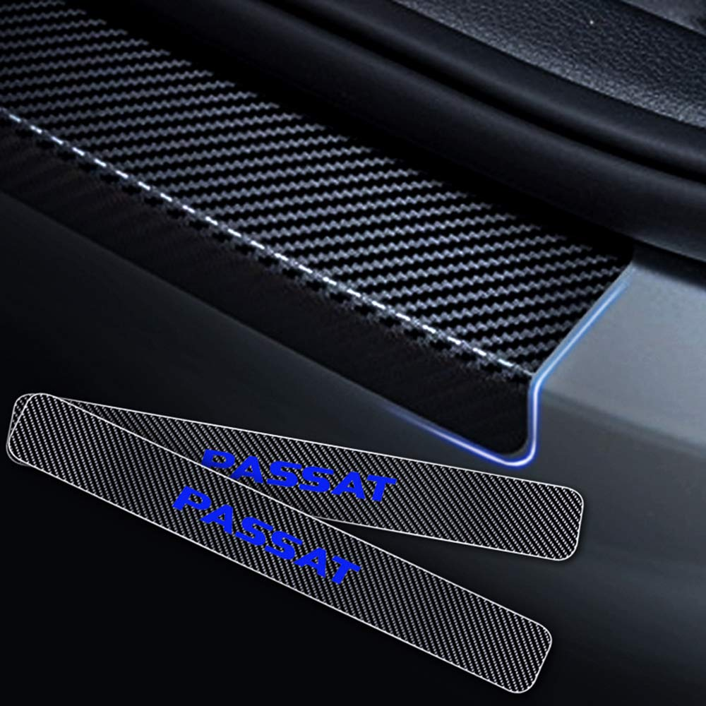 8X-SPEED para Passat 4D M Fibra de Carbono Pegatinas Sill/ín Pedal Proteger Umbral Cubierta Car Styling Sticker 4 Piezas Rojo
