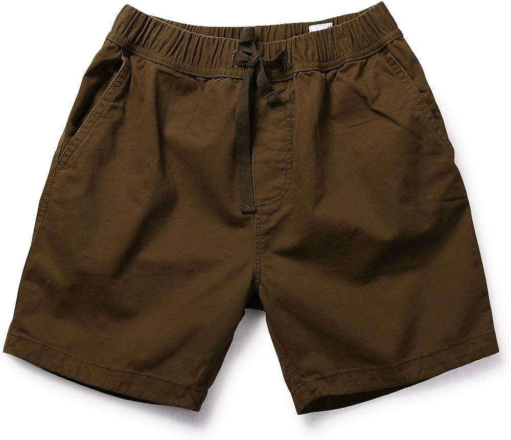 Men's Casual Elastic Waist Drawstring Cargo Shorts