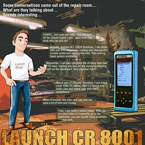 LAUNCH Creader 8001 Auto Diagnostic Scan Tool OBDII OBD2 ABS SRS Scanner Code Reader Oil/EPB Reset with TPMS Activation Tool by LAUNCH (Image #6)