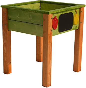 Hochbeet Aus Holz Fur Kinder Hohe Standsicherheit Grun Orange