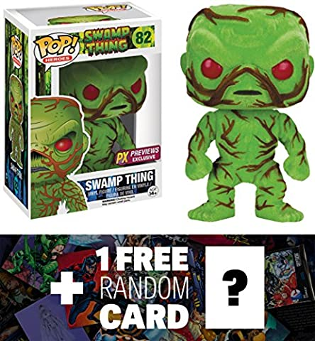 Swamp Thing [Flocked] (PX Exclusive): Funko POP! Heroes x DC Universe Vinyl Figure + 1 FREE Classic Movie Trading Card Bundle (New Funko Pop Supernatural)