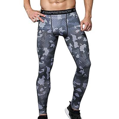 Legging Sport Homme Compression Tight Pants Couche de Base de Course/Cyclisme/Fitness
