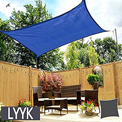 LYYK Toldo Vela de Sombra Rectangular 2x5m, Toldo Vela de Sombra ...