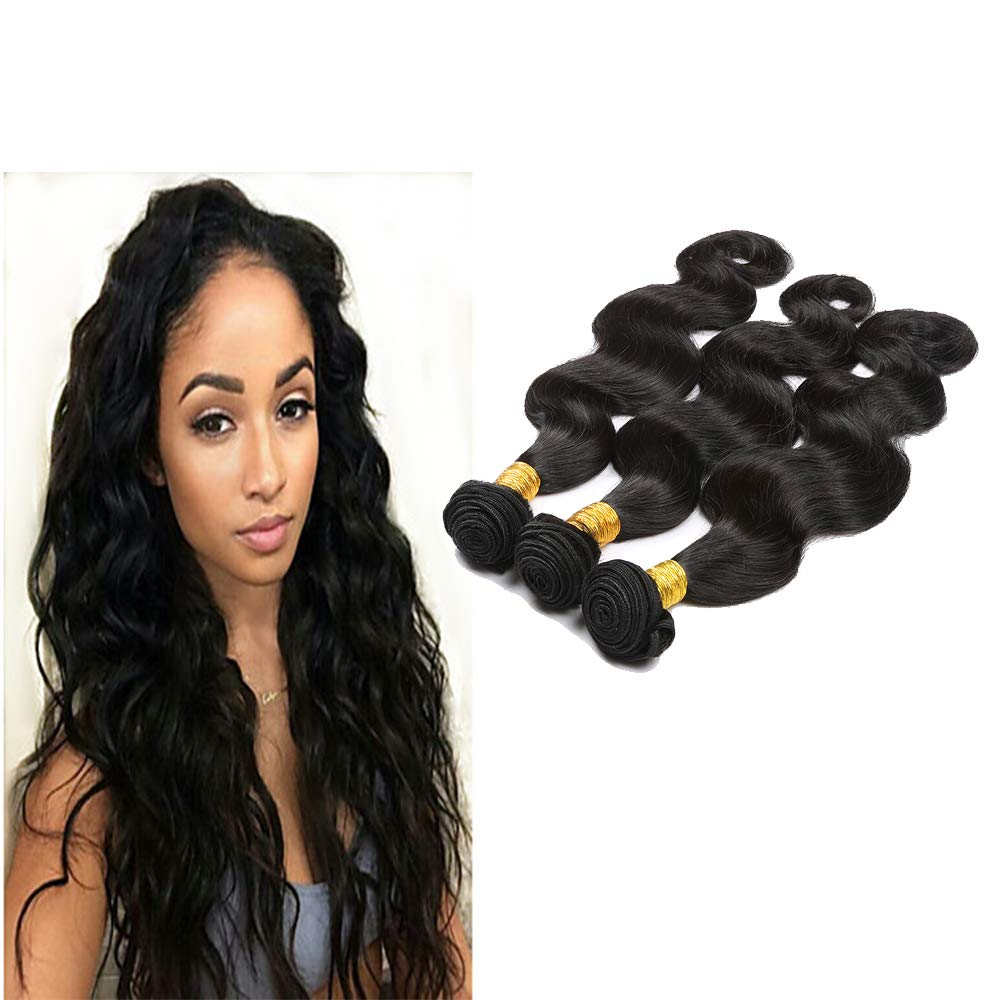 a8cab0c86 Amazon.com: ESSVIGANT Dyeable Human Hair Extensions Brazilian Virgin  Natural Color,3 pcs/lot Body Wave, Valentine's Day Personal Use 20'' 22''  24'': Beauty