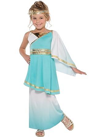 Infantil Venus Diosa Griega Niña Romano Princesa Disfraz Completo - Talla - Adolescente- 12-