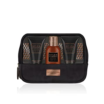 e639a6fa09 Baylis   Harding Men s Black Pepper and Ginseng Wash Bag Trio Gift ...
