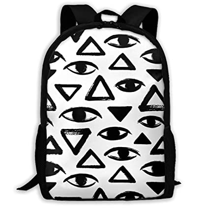 TAOHJS106 Black and White Geometrical Pattern Waterproof Adult Backpack  Shoulder Bag for Women and Men Premium 88ee35d8ac6d2