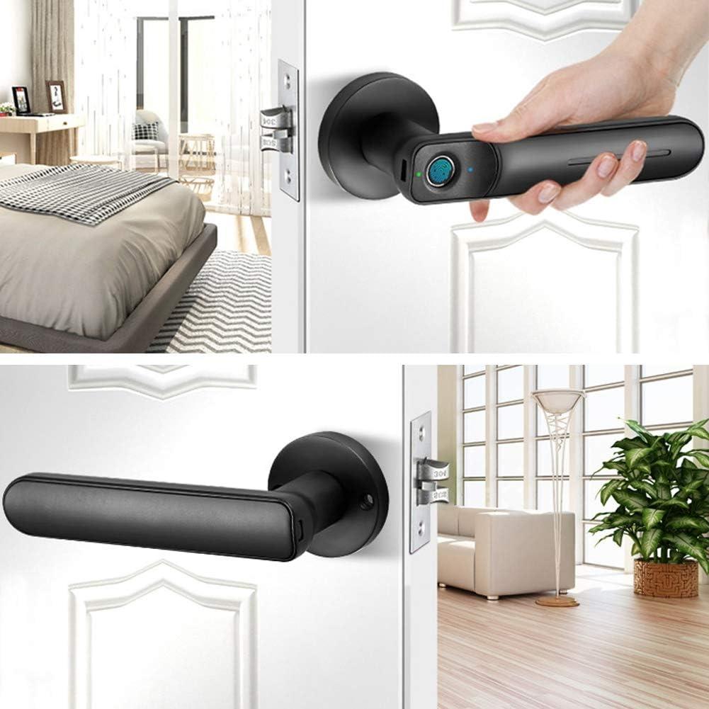 ufficio leva elettronica di sicurezza per porta dingresso appartamento Serratura intelligente con impronta digitale biometrica serrature con maniglia per porta senza chiave impermeabile per casa