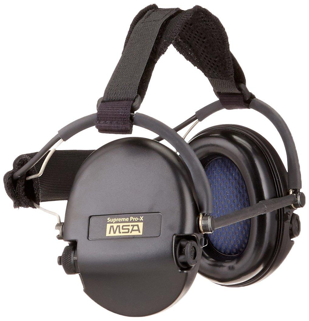 MSA 10082166 Supreme Pro-X Earmuff with Black Neckband, Black Cups by MSA B007IBGNIW