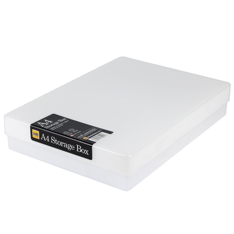 Westonboxes A4 Craft contenitori in plastica bianco, confezione da 10