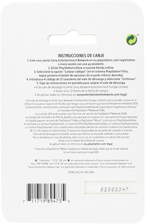 Sony - Tarjeta Prepago 20€ (Código Digital): Sony: Amazon.es ...