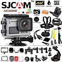 SJCAM SJ6 Kit Inclduing Extra Battery, Charger, SD-Card, 15-in-1 Accessories SJ6000 LEGEND 2″ LCD Touch Screen 2880×2160 4K Action Camera Novatek NT96660 Panasonic MN34120PA CMOS - Silver