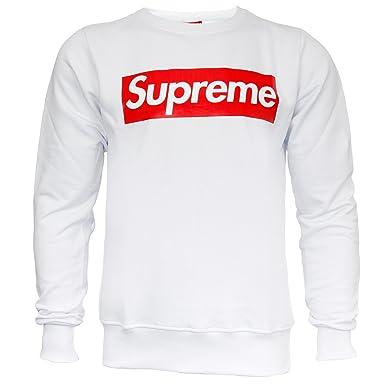 c11ed9c17cc6 Supreme Italia Men's Sweatshirt - White - X-Large: Amazon.co.uk: Clothing