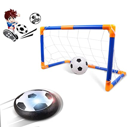 amazon com kids toys hover ball rolytoy air power soccer goal set