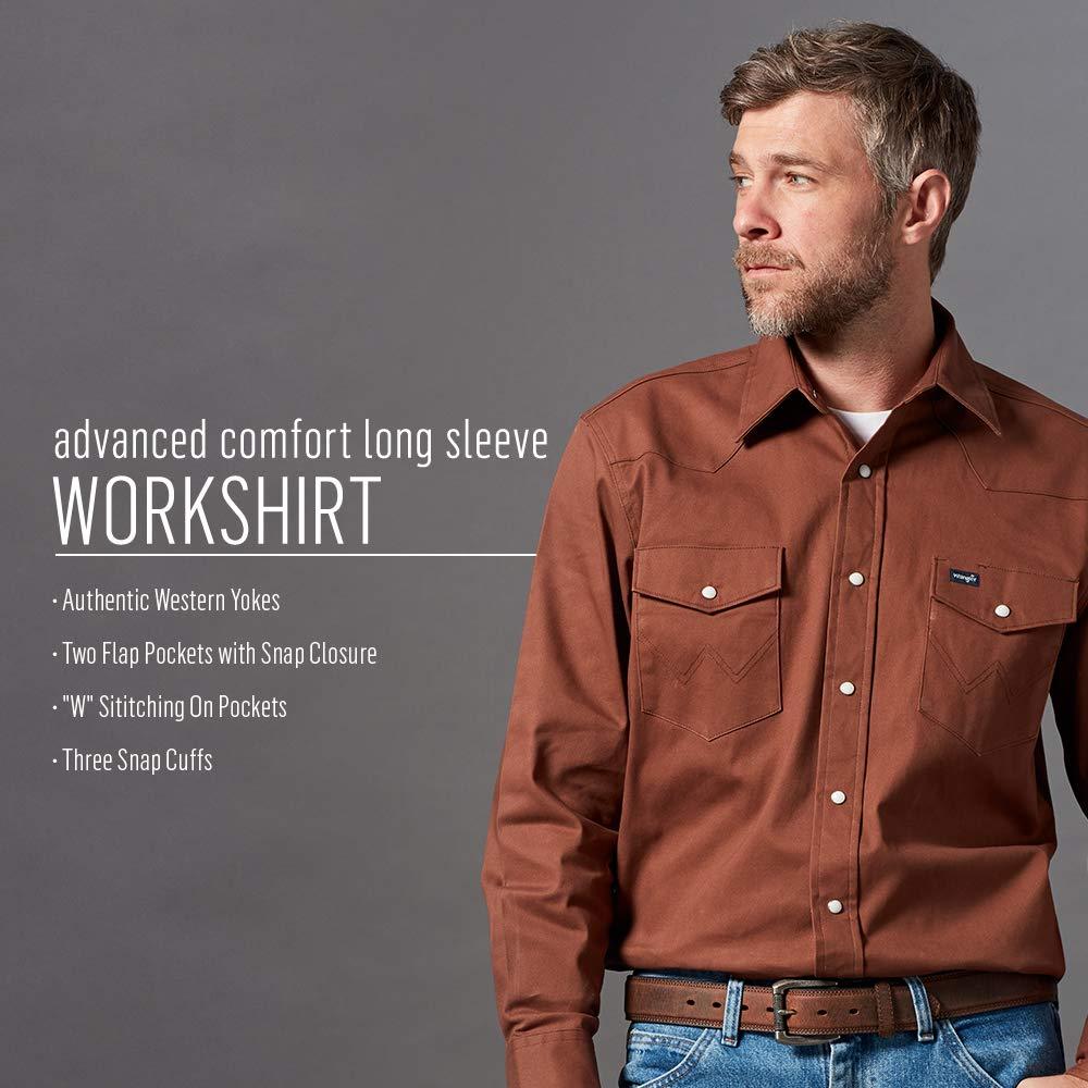 26f29e0e Wrangler Men's Premium Performance Advanced Comfort Workshirt at Amazon  Men's Clothing store: