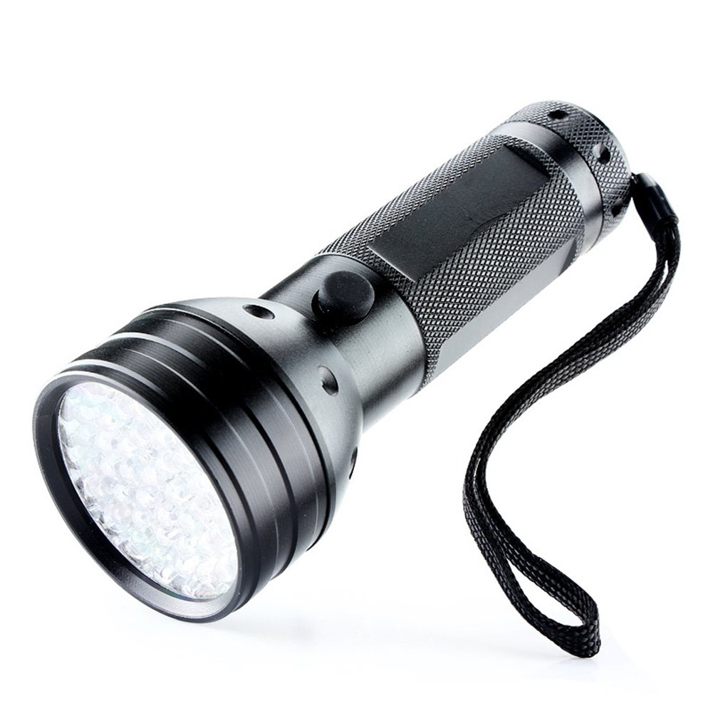 Ultra Violet LED Flashlight/Blacklight, UV LED Flashlight, 51 LED 395nm, Pet Urine & Stain Detector, Find Stains on Clothes, Carpet or Rugs, 3 AA Batteries Not Included