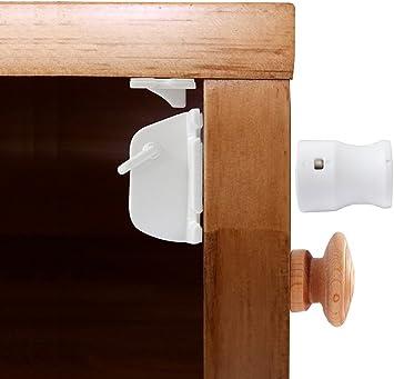 Child Safety Door Handle Locks Baby Lock Safety Cabinet Wardrobe Drawer Lock FA
