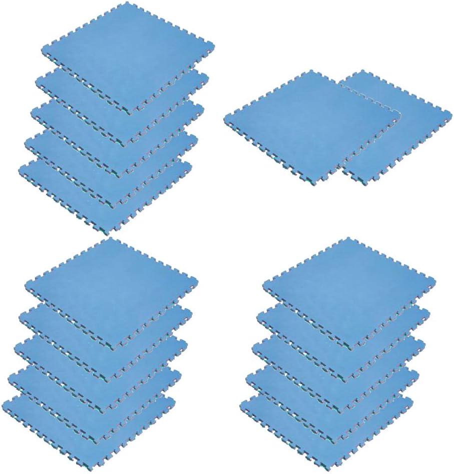 ボディメーカー(BODYMAKER) リバーシブルジョイントマット2.0 100×100×2cm レッド×ブルー 17枚
