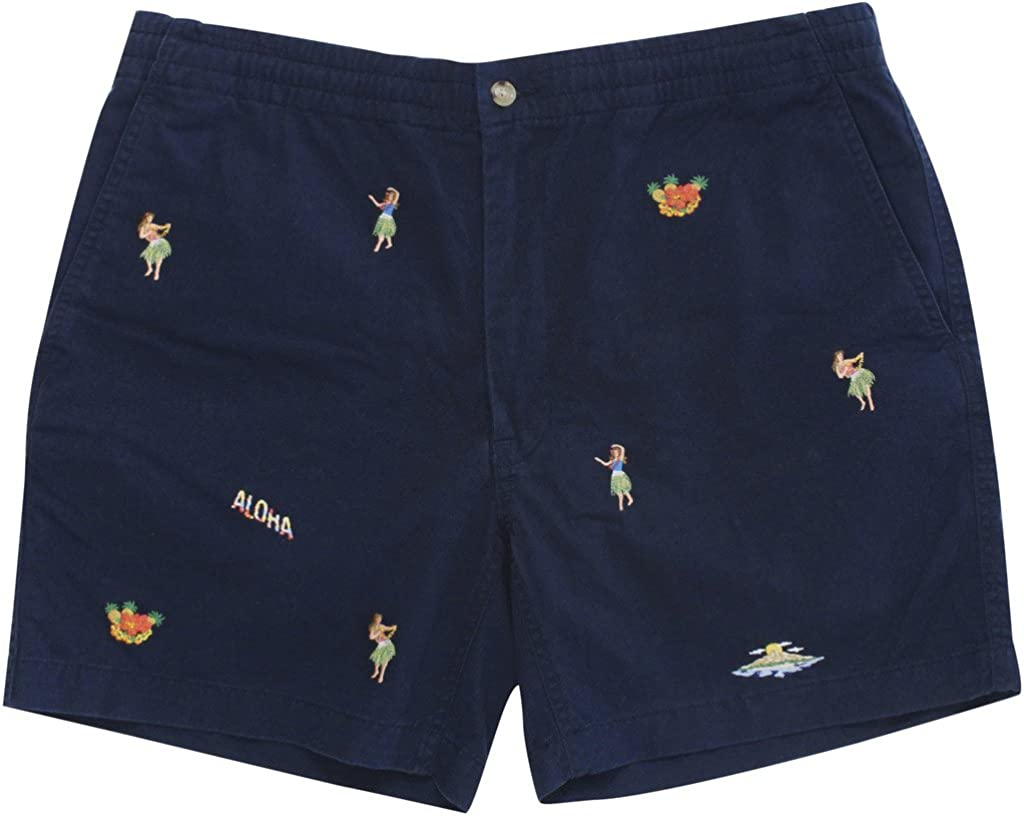Polo Ralph Lauren Mens Aloha Hawaiian Embroidered Classic Fit 6 Shorts