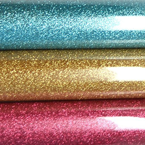 Firefly Craft Glitter Heat Transfer Vinyl For Silhouette And Cricut, 12 Inch by 20 Inch, Fairytale 3 (Fairy Iron)