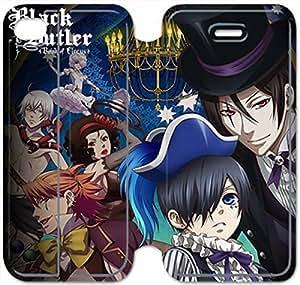 iphone 4 4s Flip Leather Phone Case Black Butler SF1DG6278832