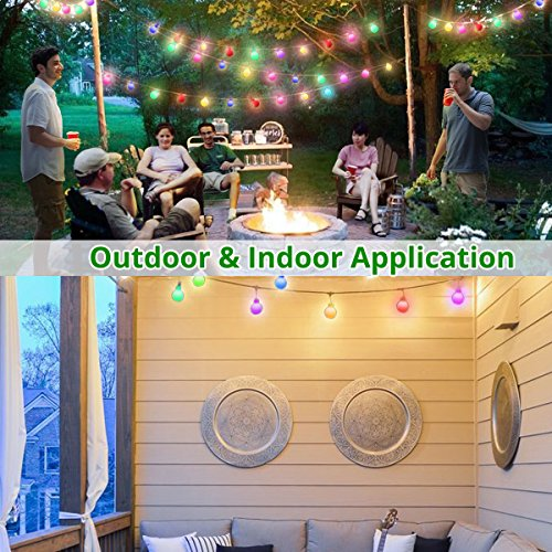 Globe String Lights, 50 LED Colored Outdoor String Lights, Battery Powered String Lights Waterproof, 18 Ft, Patio String Lights with Remote Control for Patio Garden Party Wedding Decoration by Smart&green Lighting (Image #6)