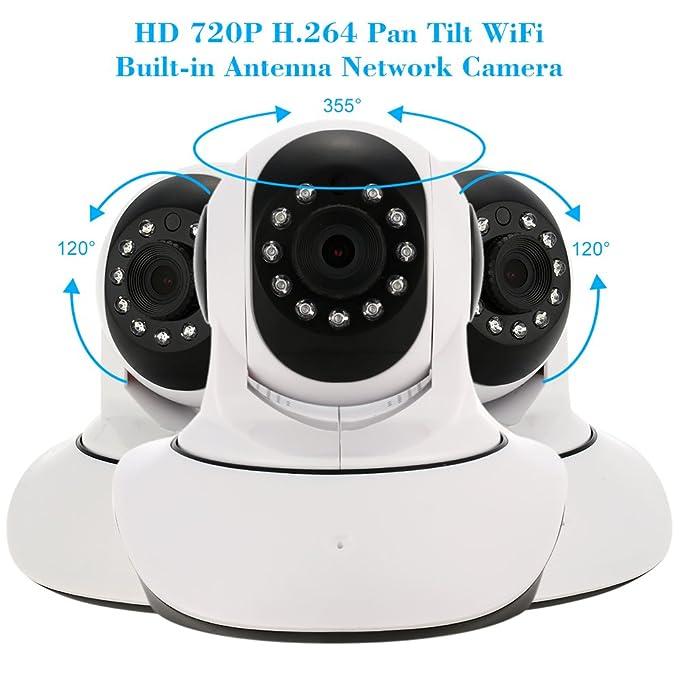 KKmoon jd-t3810-q5 Pan Tilt cámara inalámbrica Wifi IP Cámaras ...