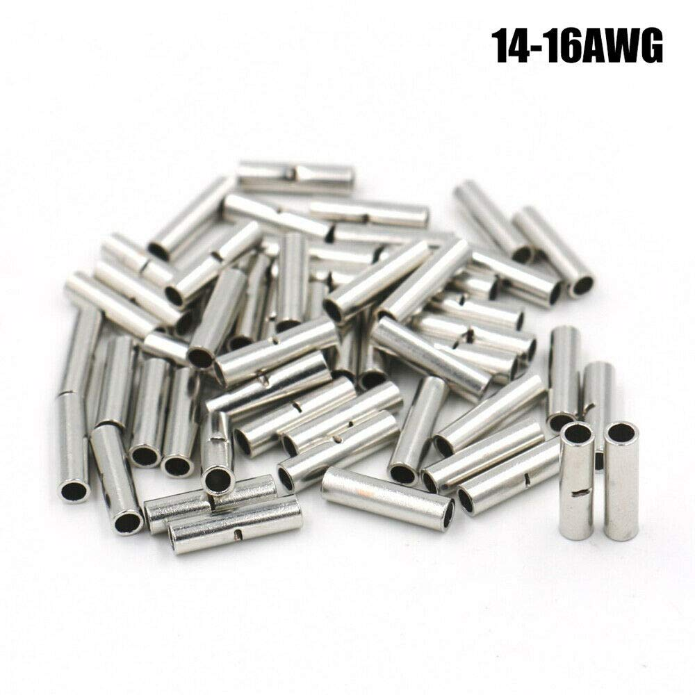 SENRISE Lot de 100 connecteurs non isol/és /à sertir pour c/âbles /électriques 10-12 AWG 14-16 AWG 18-22 AWG